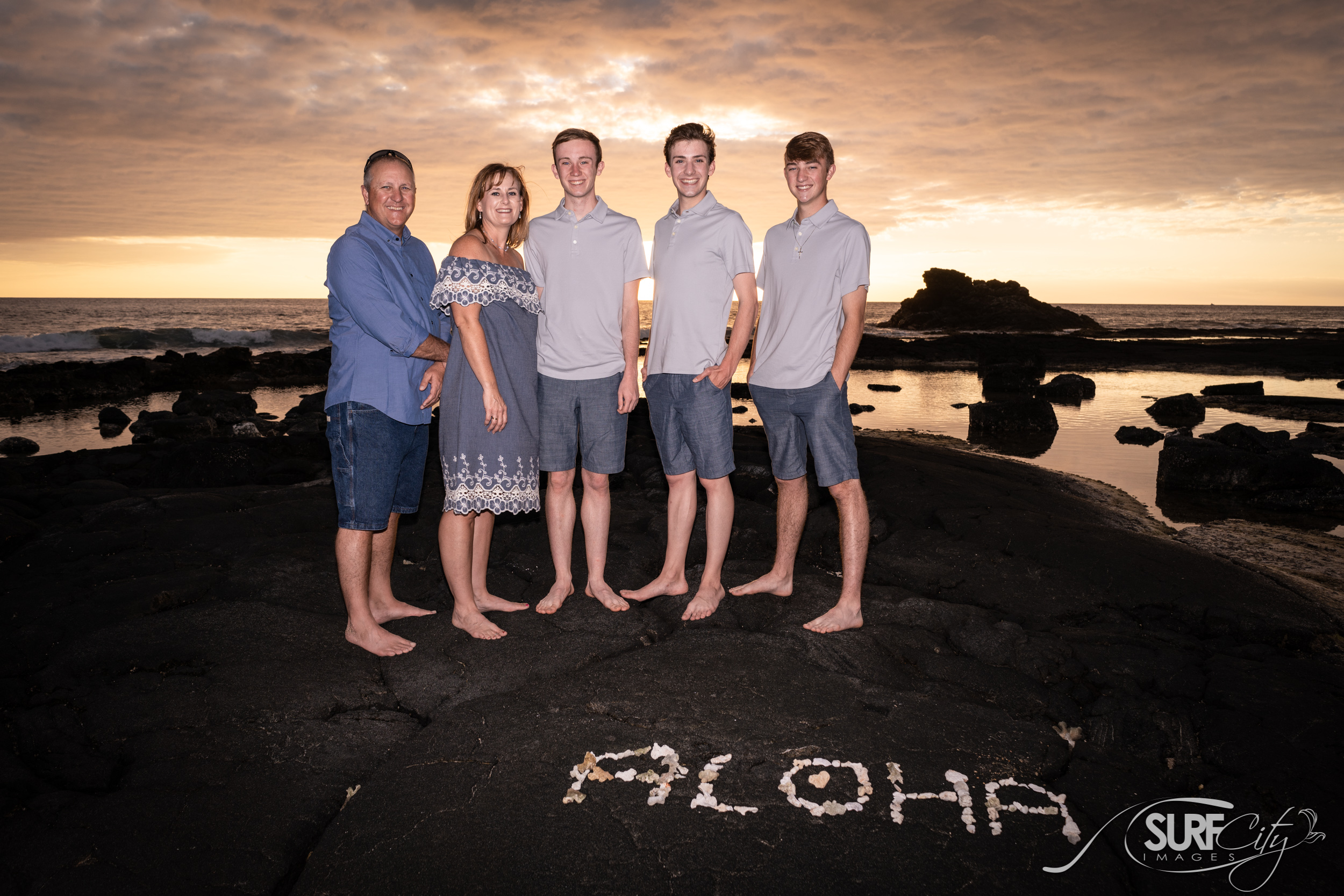 Aloha Family Photos in Kona