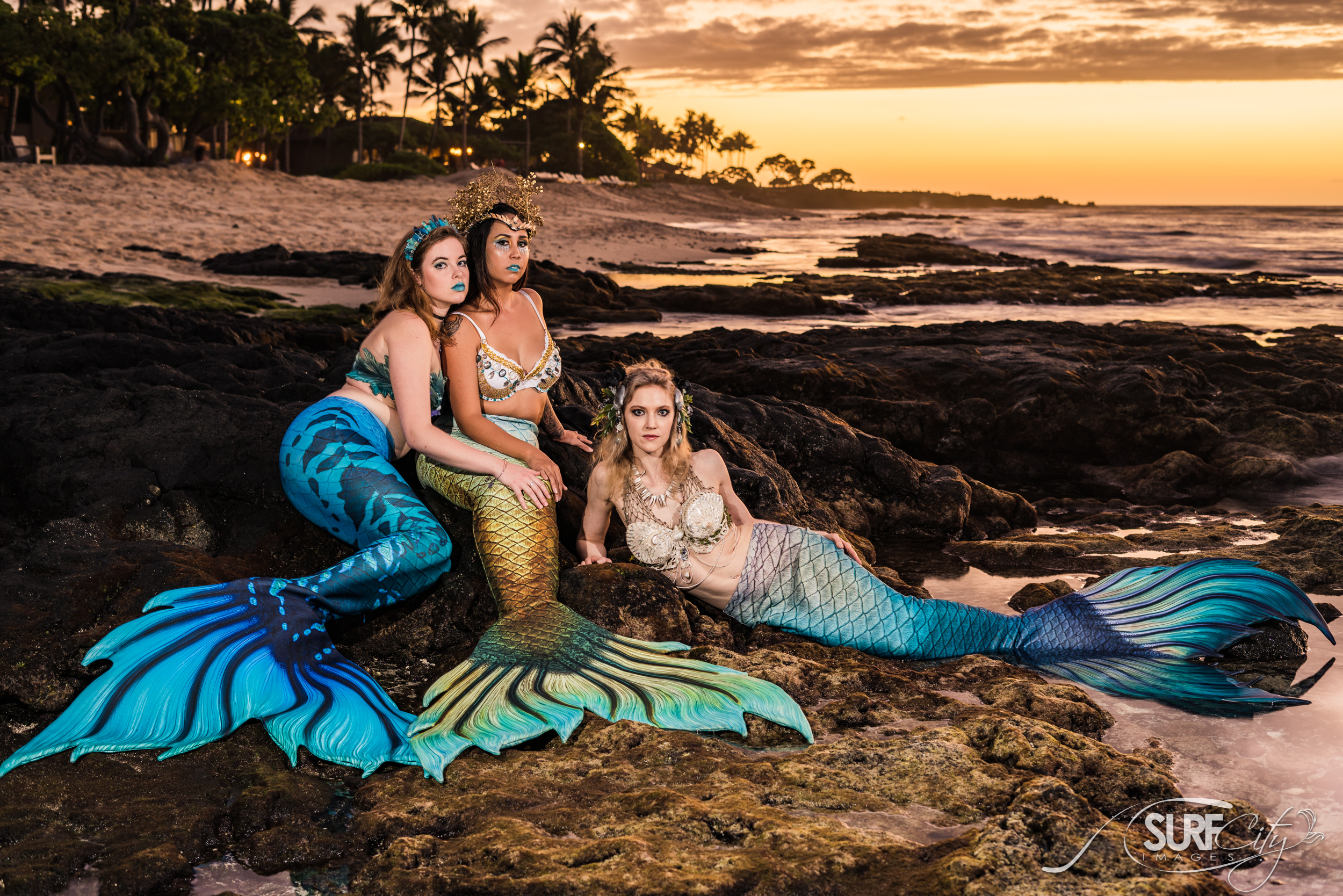 Dramatic mermaid photos